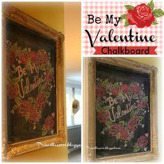 Priscillas: Be My Valentine Chalkboard