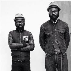 artcomesfirst:  Sam & Shaka presenting Avec Ces Freres in Paris.   Picture by Modehunter