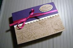 Splitcoaststampers - Tutorials- env gift box for bulky cards