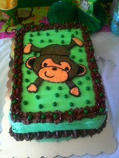 Monkey Boy Birthday Cake