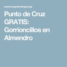 Punto de Cruz GRATIS: Gorrioncillos en Almendro
