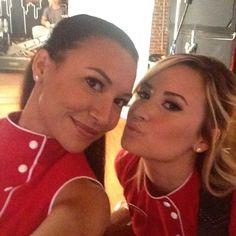 Naya and Demi on set today