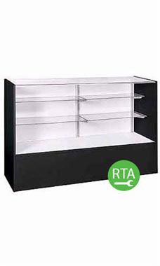 48 inch Full Vision Black Display Case Ready to Assemble