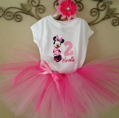 Minnie Mouse Birthday Tutu Outfit, Minnie Mouse 1st Birthday Outfit, Minnie Mouse Birthday Outfit by strawberryluv on Etsy https://www.etsy.com/listing/223188514/minnie-mouse-birthday-tutu-outfit-minnie