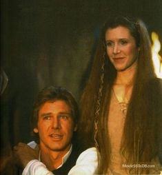 Star Wars: Episode VI Return of the Jedi Publicity still of Harrison Ford & Carrie Fisher - Star Wars Princesses - Ideas of Star Wars Princesses - Star Wars: Episode VI Return of the Jedi Leia Star Wars, Star Trek, Harrison Ford Han Solo, Star Wars Episode 6, Starwars, Tribal Warrior, Han And Leia, Star Wars Pictures, George Lucas