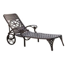 Amazon.com : Home Styles Biscayne Chaise Lounge Chair, Black : Patio Lounge Chairs : Patio, Lawn & Garden
