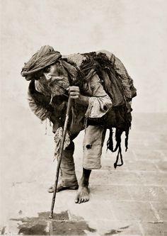 Antoin Sevruguin, A beggar in Tehran, Iran, ca. 1880.