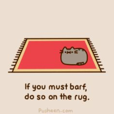 Pusheen rules for being an indoor cat
