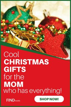 """Wondering """"What to get my mom for Christmas?""""  Wonder no more...delight her with one of these fabulous Christmas presents for the mom who has everything!"""