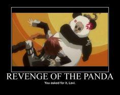 Pandas!! Anime motivational poster -- D. Gray man