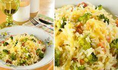 Arroz de forno com brócolis