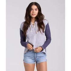 Billabong Women's Beach Whisper Fleece Hoody (€50) ❤ liked on Polyvore featuring tops, hoodies, blue cruz, fleece tops, fleece hoodie, lightweight hoodies, hooded sweatshirt, hooded pullover sweatshirt and fleece pullover hoodie
