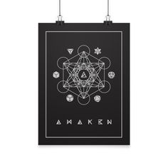 Sacred Geometry Poster by AWAK3N