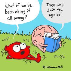 Dad Jokes, Funny Jokes, Studio Ghibli Quotes, Heart And Brain Comic, The Awkward Yeti, Akward Yeti, Biology Memes, Smart Quotes, Medical Humor