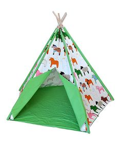 Take a look at this Rainbow Horse Tepee Tent by KingMax Product on #zulily today!
