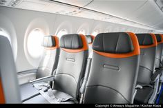 PHOTO TOUR: Inside JetBlue's Brand New Airbus A220-300   Airways Magazine Plane Seats, Car Seats, Kennedy Airport, Flights To London, Letter Of Intent, New Aircraft, Aviation Industry, Fort Lauderdale, Airplane