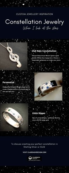 Ideas for a custom constellation gift made in solid gold. Meaningful gifts for those with a passion for the nightsky.