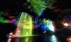 Hermosas cascada en japon kumamoto!