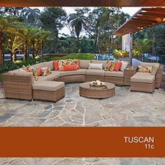 tk classics 12 piece barbados12c outdoor wicker patio furniture