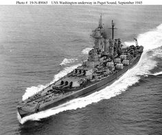 USS North Carolina underway 1945