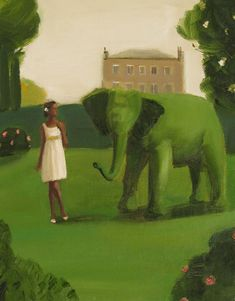 Sometimes He Was The Only One She Could Talk To by janethillstudio, $23.00 - elephant shrubbery