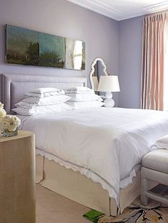 We love the calming oasis this homeowner created! Get more guest bedroom ideas here: http://www.bhg.com/rooms/bedroom/makeovers/guest-bedroom-ideas/?socsrc=bhgpin080814fullservicewelcome&page=4