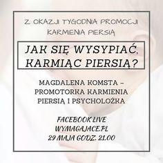 Dziś FB Live na profilu Wymagajace.pl Jak się wysypiać karmiąc piersią? Do zobaczenia o 21.00