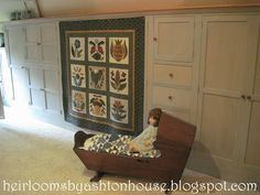 Heirlooms by Ashton House: QUILTED HOUSE TOUR PART 2 Doll Beds, Attic, House Tours, Victorian, Decorating, Quilts, Frame, Furniture, Home Decor