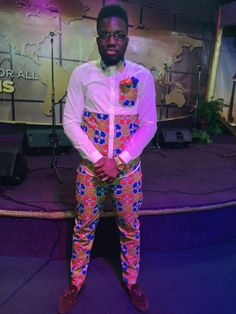 Men's African Print Outfit By Heavenly Designs! Fashion Shirts, Mens Fashion, Ankara Fashion, Ankara Styles, Event Decor, Heavenly, Custom Design, African, Sewing