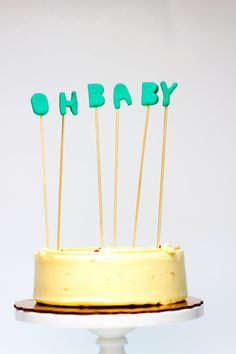 clay letter cake toppers | you are my fave