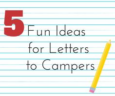 Things To Mail Your Child At Summer Camp  Crazy Things