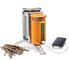 Rocket Stove Campstove that also charges a mobile device or LED.  http://www.biolitestove.com/campstove/camp-overview/features/