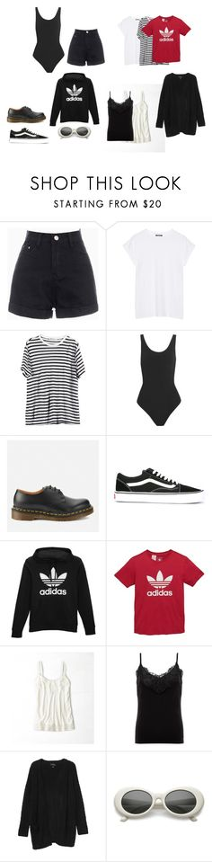 """""""my basic"""" by anaunderground on Polyvore featuring moda, Balmain, T By Alexander Wang, Yummie by Heather Thomson, Dr. Martens, Vans, adidas Originals, American Eagle Outfitters, Lipsy e Monki"""