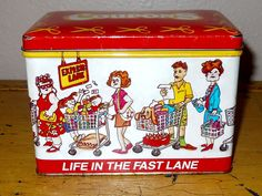 Metal Coupons Container - Vintage - Life in the Fast Lane by Luv2Junk on Etsy