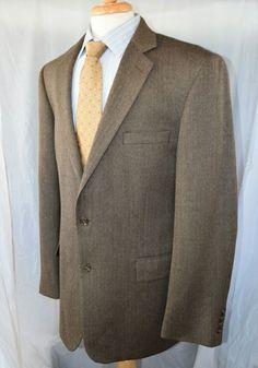 Ralph Lauren Sport Coat Blazer 42R Jacket Grey Black Herringbone ...