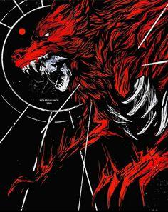 Dark Fantasy Art, Dark Art, Scary Wolf, Werewolf Art, World Of Darkness, Tatoo Art, Horror Art, Character Design Inspiration, Mythical Creatures