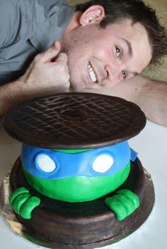 teenage mutant ninja turtles birthday cake I need this! Ninja Turtle Birthday Cake, Ninja Turtle Party, Cool Birthday Cakes, Birthday Fun, Birthday Ideas, Fun Party Themes, Party Ideas, Heather King, Turtle Cakes