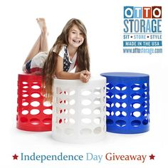 Organizing Made Fun is hosting an Independence Day giveway on Instagram for Otto Storage. We're giving away 5 Otto Storage Stools, just follow Otto  Storage on Instagram for your chance to win an Otto Storage Stool of your choice. Giveway ends July 5th 2015, entrants must be over 18 yrs and US or UK mainland residents. Good luck!