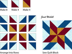Try This Bold, Vibrant Mosaic Pinwheels Quilt Block Pattern: How to Make Mosaic Pinwheels Quilt Blocks