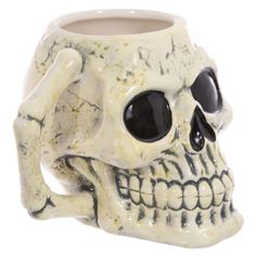 Fantasy Skull Head Shaped Ceramic Mug.... Made from ceramics  Dimensions: Height 10.5cm Width 12.5cm Depth 12.5cm  Delivery prices available on Checkout
