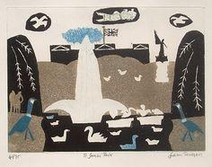 Julian Trevelyan St James Park print for sale Intaglio Printmaking, Art Cube, St James' Park, London Art, Love Art, Painting & Drawing, Art Photography, Art Prints, Drawings