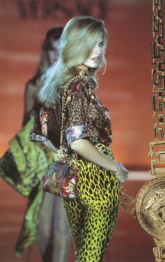 Gianni Versace 1990's Collection. Leotard print started to show more in 90s fashion
