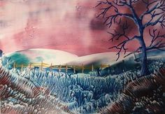 Summer days - Encaustic wax painting £4.00