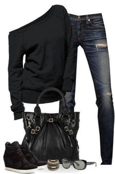 Wish | Black Classy Outfit