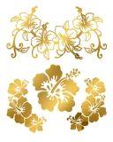 Gold Hibiscus Tattoos