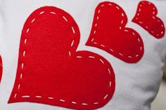 Love & Hearts Valentine's Pillow