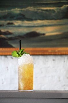 Nutty sherry and earthy mezcal make this swizzle an unexpected departure from the typical rum-based recipes. Photo by Emma Janzen.
