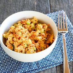 Need lunch in 5 minutes or less? Skip the boring typical tuna salad, this protein packed Spicy Tuna Salad is a healthy quick lunch with a kick!