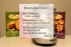 So simple and SWEET! One-ingredient banana ice cream with THINaddictives