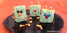 Frightfully fun foods for Halloween #beyondthepark #ricekrispytreatmonsters